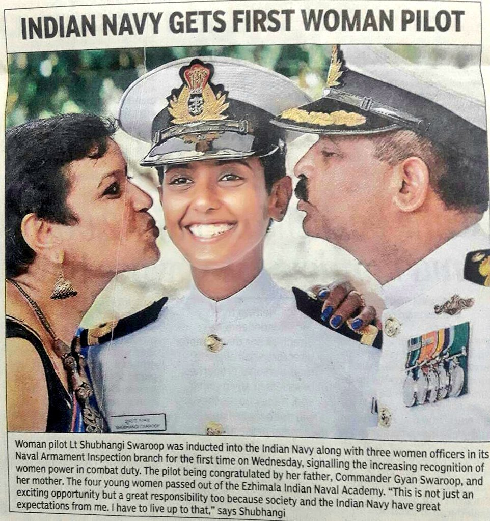 Shubhangi Swaroop First Female Pilot In Indian Navy