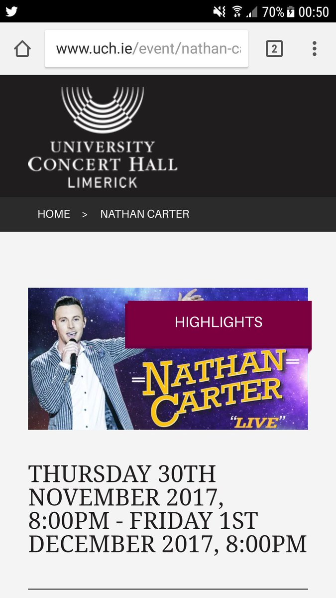 Can&#39;t wait for this Its going to be a epic night #Nathan will rock #UL.#Nathan any chance of a follow back on Twitter please? @iamNATHANCARTER @UCHLimerick<br>http://pic.twitter.com/esfivG7OHR
