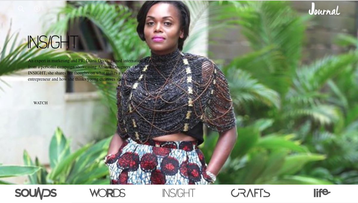 #Insight episode @DianaOpotiPR shares thoughts&amp;ideas on being a #fashion entrepreneur #Rwanda #Kenya #Africa<br>http://pic.twitter.com/awFWCP21XV