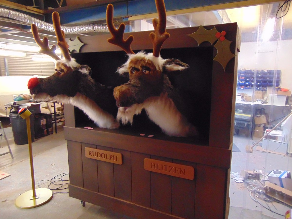 ensee twitter finished reindeers on test christmas animatronics grotto rudolph animation - Christmas Animatronics