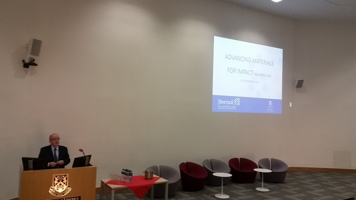 Kicking off the @BernalNews #research day with @ULPresident &quot;Advancing #Materials for #Impact&quot; @ul @UL_Research @ChemicalSciUL<br>http://pic.twitter.com/fC7wn6aB2t