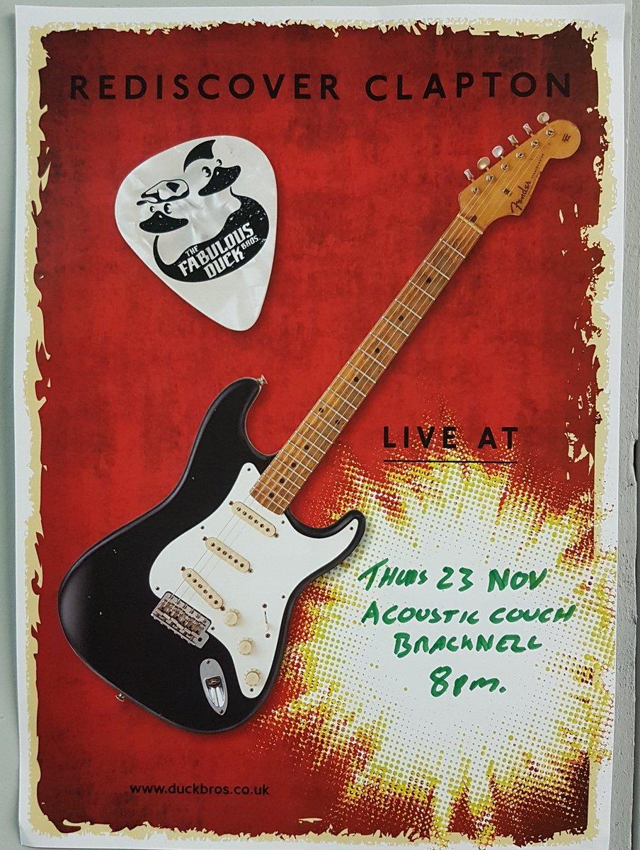 Fancy a bit of #EricClapton #TributeBand #ThursdayIsTheNewFriday #OnASchoolNight #livemusic #Musicians #bands #stage #Bracknell #latebar<br>http://pic.twitter.com/vugWxzxokz