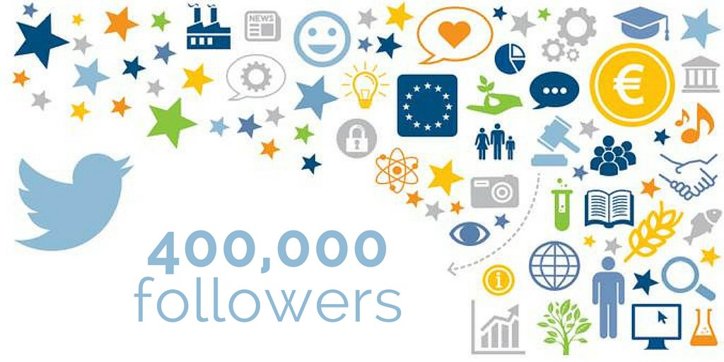 Thank you! We now have 400,000 followers...