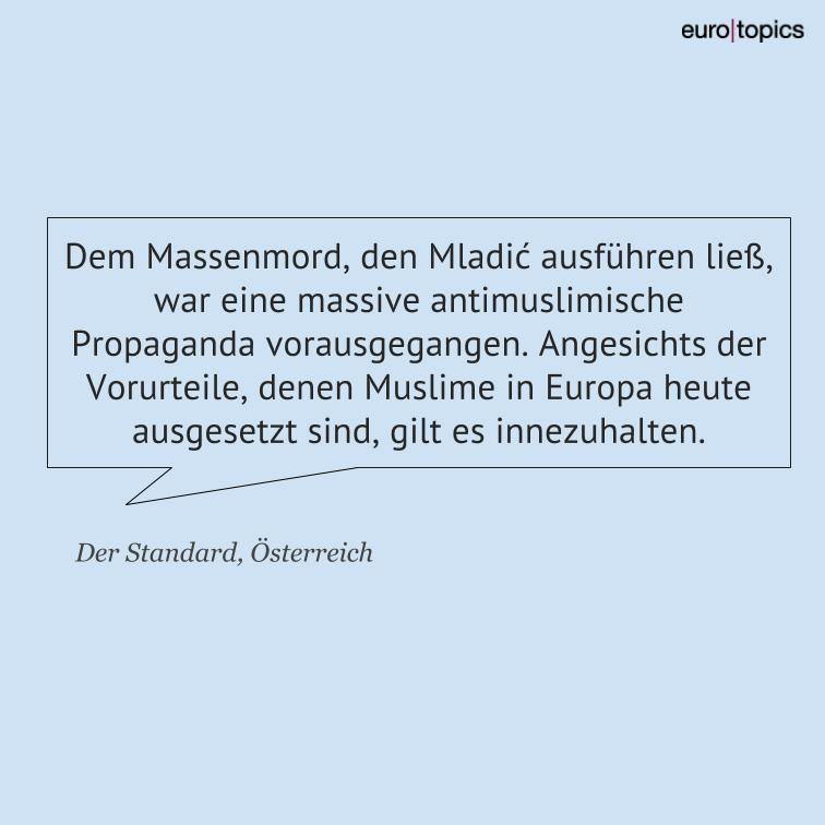 Eurotopics De On Twitter Das Mladić Urteil Ist Eine Mahnung An
