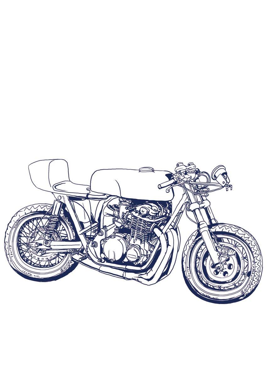 RT @ya_mrx: バイクだけは線画出来たけど 右手が爆発しそう  何が難しいかって、まっっっったく資料が無いから色んなバイクを掛け合わせて 妥協点出すしか無いとこ... https://t.co/9m6NhjVE4j