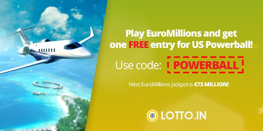 Receive a FREE #Powerball entry when you bet on #EuroMillions in November! Offer is for a limited time only. Learn more at:  https://www. lotto.in/euromillions  &nbsp;  <br>http://pic.twitter.com/b2rnnvxOWb