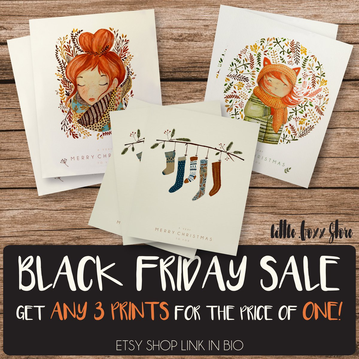 With buying ANY of these cards you get 2 more of your choice for FREE!  #BlackFriday #blackfridaysale #sale #christmas #christmassale #christmascard #art #illustration #watercolor #watercolour #illustration #prints #cards #CardsThanks<br>http://pic.twitter.com/DWiZB5jaUV