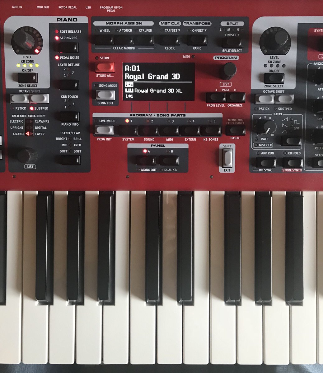 #Nord Stage 3, #Royal Grand 3d, at the moment seems to be the best piano sample for #worship music. I strongly recommend!<br>http://pic.twitter.com/42f5w6SZxk