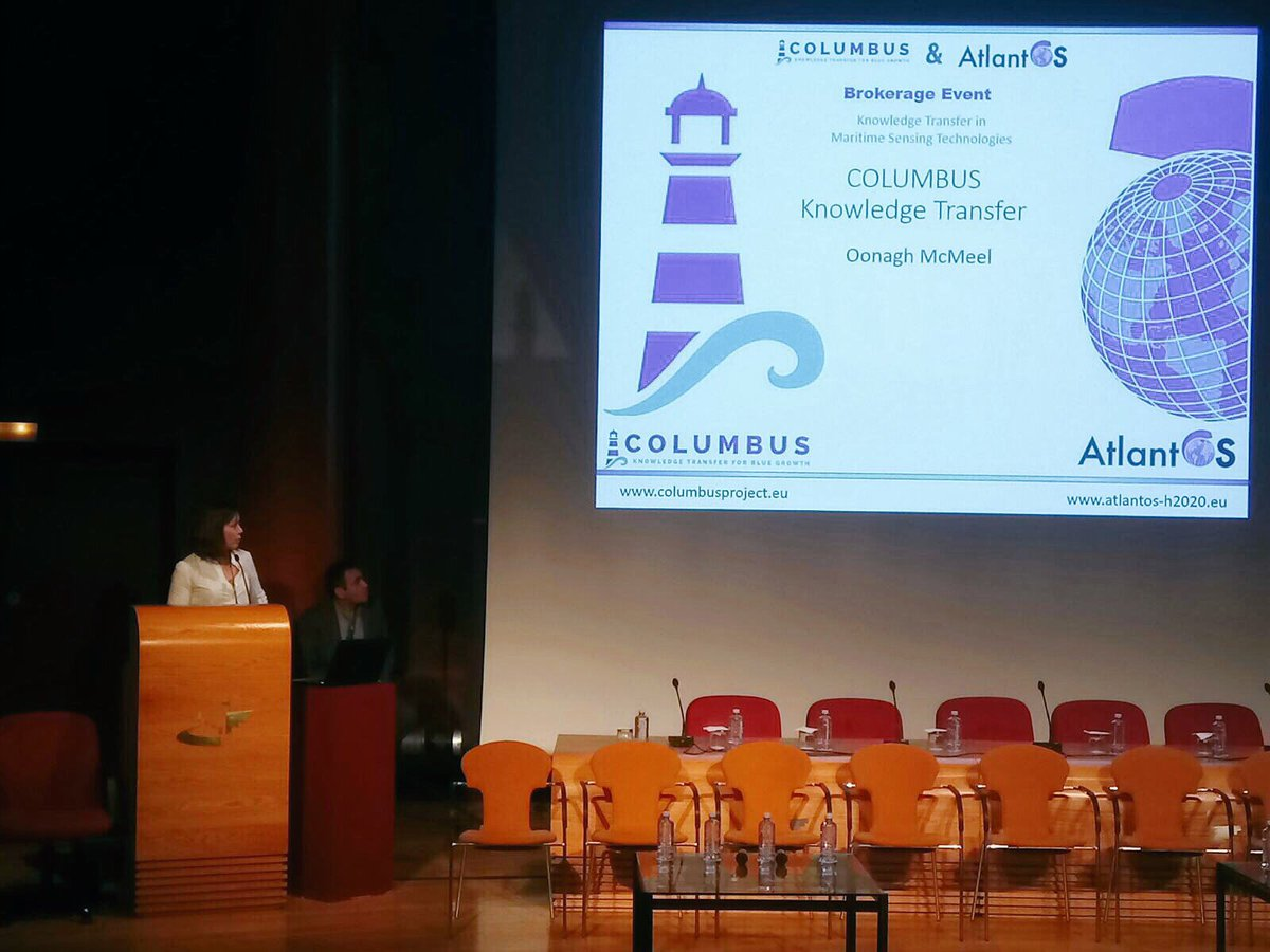 How to fully exploit the results of EU-funded #research projects? Dr. Oonagh McMeel @EMODnet presenting @COLUMBUS_EU #knowledgetransfer methodology for #bluegrowth @AtlantOS_H2020 General Assembly @plocan #H2020  http:// eurogoos.eu/events/columbu s-brokerage-event-knowledge-transfer-maritime-sensing-technologies/ &nbsp; … <br>http://pic.twitter.com/umI6JGHKea