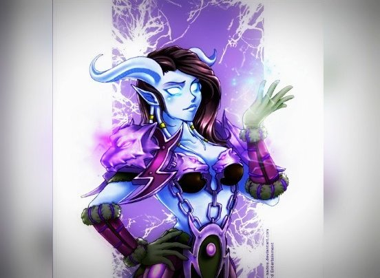 Sophie takes off the tiara from her hands and puts it on her head. _Perfect, I am a Draenei !!   http:// crwd.fr/2zmWuKy  &nbsp;    #warcraft #fanart<br>http://pic.twitter.com/1AKMRZdVpu