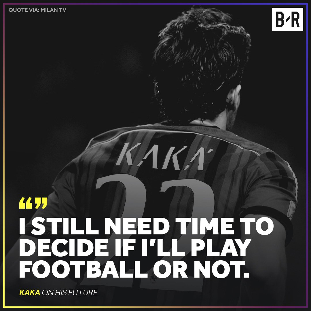 Could we see Kaka back on the pitch agai...