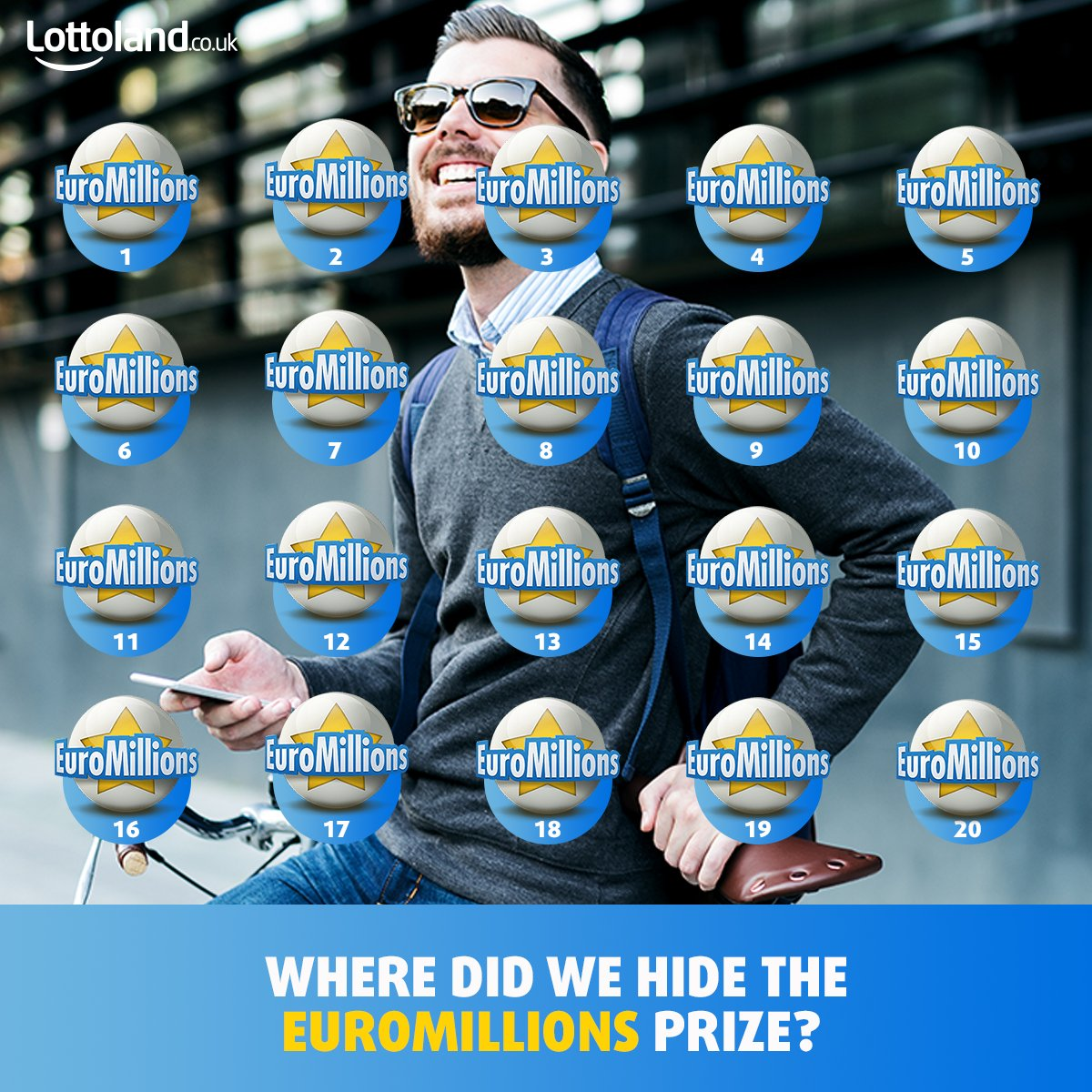 #Follow, RT&amp; Reply with one number (1-20). You&#39;ll be entered into a #draw to #win a Free Bet for Friday's #EuroMillions:  https://www. lottoland.co.uk/euromillions?p id=tw_s_ukemlogos&amp;utm_source=tw&amp;utm_medium=osm&amp;utm_campaign=emlogos &nbsp; … <br>http://pic.twitter.com/DsXFzVFfko