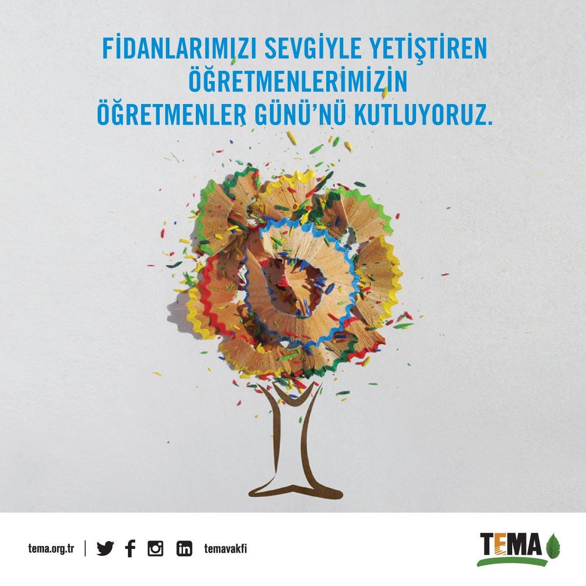 RT @temavakfi: Tüm öğretmenlerimizin #24KasımÖğretmenlerGünü kutlu olsun. 💚 https://t.co/DuiY0trtiD