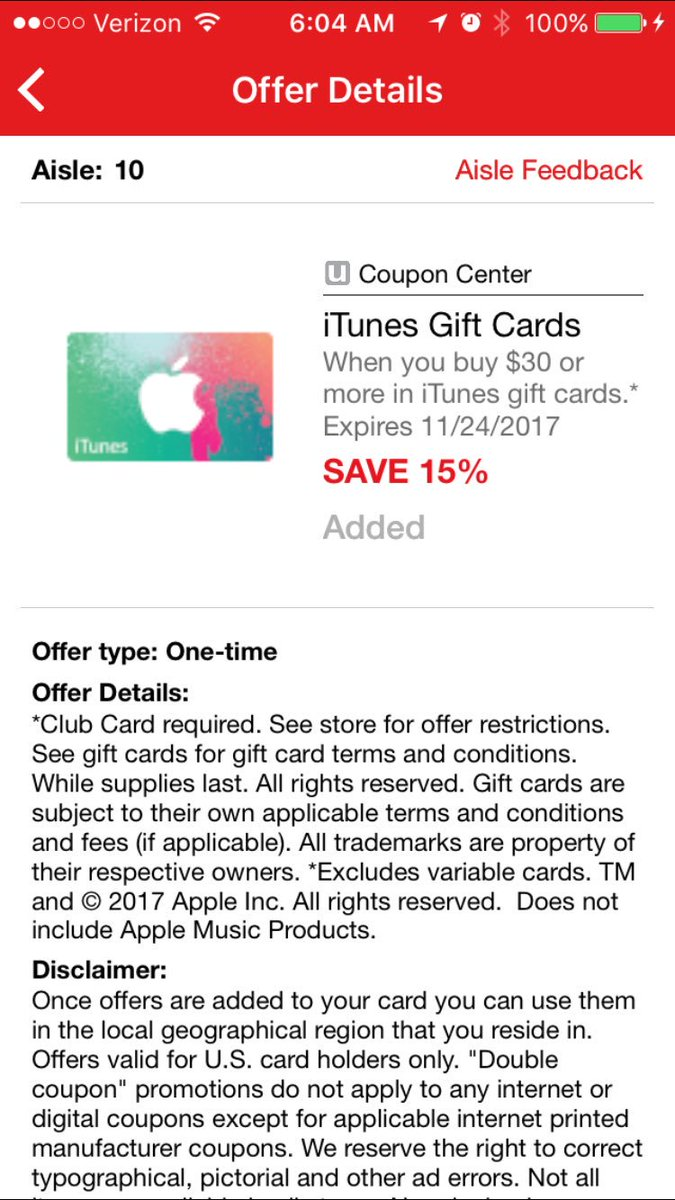 iTunes Card Deals (@itunescarddeals)   Twitter