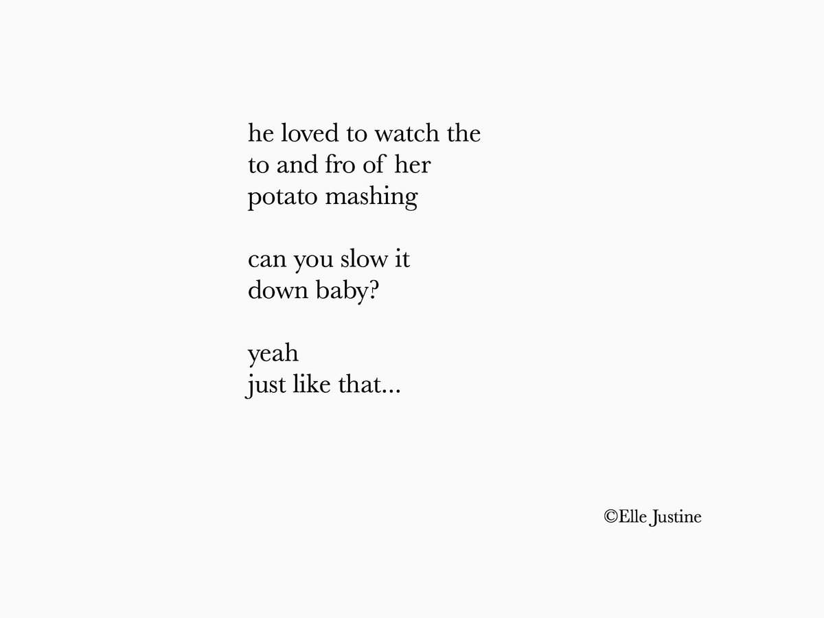 he loved to watch the to and fro of her potato mashing  can you slow it down baby?  yeah just like that...       #micropoetry #mpy<br>http://pic.twitter.com/HrOhHVInCl