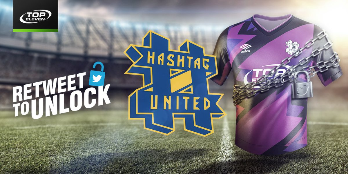 🎁 We have a surprise from our good friends @TopEleven. Follow @Hashtagutd and RETWEET this to help unlock our away jersey in #TopEleven. Return to the game tomorrow to claim your free prize!