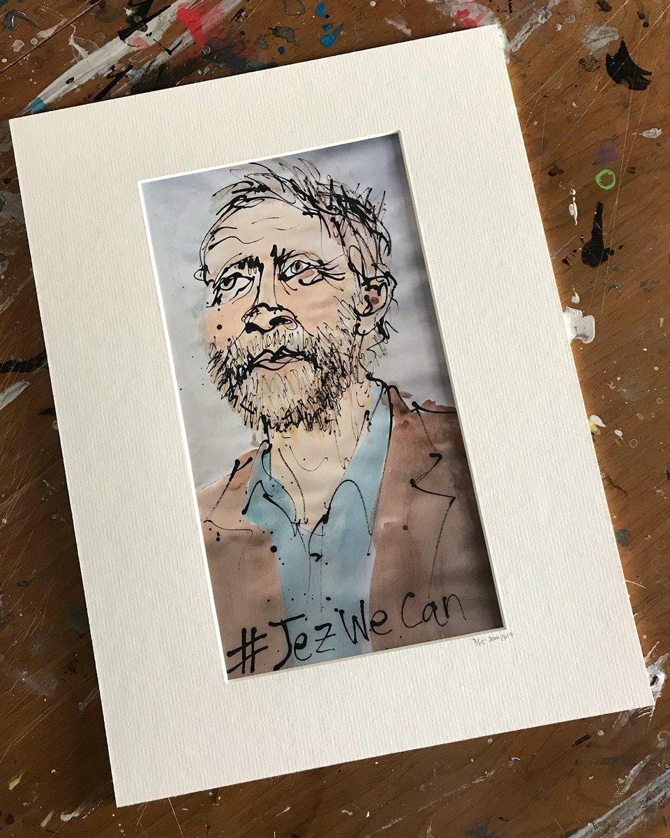 1st of 15 signed, ltd edition prints of my @IllustrateProse piece: &#39;#JezWeCan&#39; - @jeremycorbyn . More available from £15 / Cards from £2.50 .  http:// jazamin.co.uk/illustrated-pr osody &nbsp; …  . #art #fineart #politics #prints #politicalart #editorialart #toriesout #jeremycorbyn #corbyn #illustratedprosody<br>http://pic.twitter.com/k2LzomxGL6