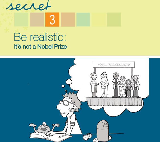 #7PhDSecrets @waikato. Secret 3: Be realistic.  It&#39;s not a Nobel Prize.  When you are doing a PhD you are learning how to do research. #PhDForum #EMCRForum #research <br>http://pic.twitter.com/BiUv8msmSv