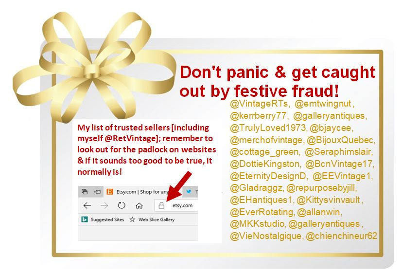 #BlackFriday2017 is nearly here be wary of festive fraud! See my list of trusted sellers and don&#39;t forget to check out mine &amp; their pages  https://www. etsy.com/uk/shop/TheRet roVintageShop &nbsp; …  #Christmas2017 #xmasfever #sale #UK #London #USA #NYC #Canada #Barcelona #Paris #Italy #artglass #weddingparty<br>http://pic.twitter.com/XW5WnXJvgj