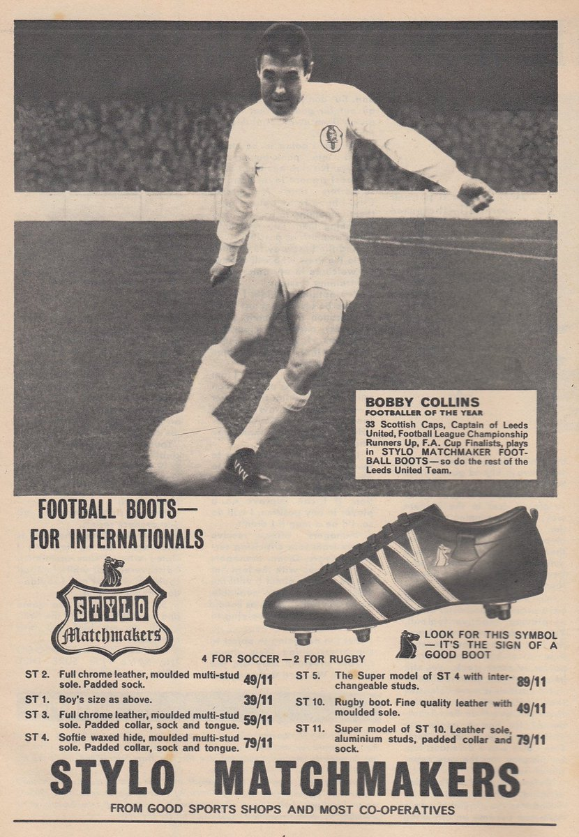 Stylo Matchmakers Bobby Collins advert 1965