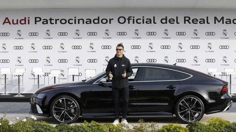 el audi q7  coche estrella en el vestuario del real madrid
