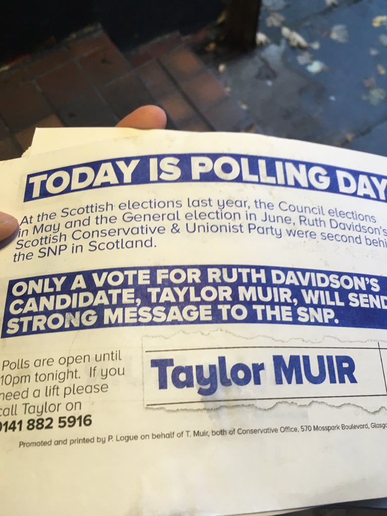 Every vote will count when turnout is low! On your way home from work? Pop in and vote for me on the way  #by-election <br>http://pic.twitter.com/0dAX3Cju7Y