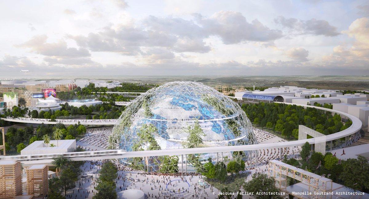 """🌐 Au cœur de l'Exposition Universelle de 2025, le Globe plongera les visiteurs dans un voyage immersif pour les sensibiliser aux enjeux de préservation de notre planète et se transformera en planétarium le soir. <a href=""""https://twitter.com/hashtag/JEVEUX2025?src=hash"""" target=""""_blank"""">#JEVEUX2025</a> <a href=""""https://twitter.com/hashtag/EXPOFRANCE2025?src=hash"""" target=""""_blank"""">#EXPOFRANCE2025</a> 🇫🇷🌍 https://t.co/4HiPQ1Z1B3"""