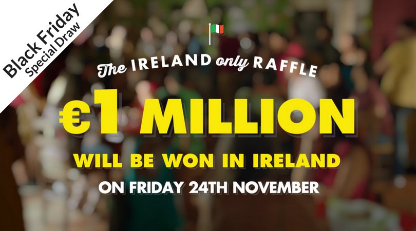 This #BlackFriday - 24th of November one of the #EuroMillions - Ireland Only Raffle winners will also win €1 Million guaranteed, plus a chance of winning the Jackpot. #ShareTheDream Play Now!  http:// bit.ly/2hslVS  &nbsp;   Play responsibly - Play for fun!<br>http://pic.twitter.com/p7ockeRd7j