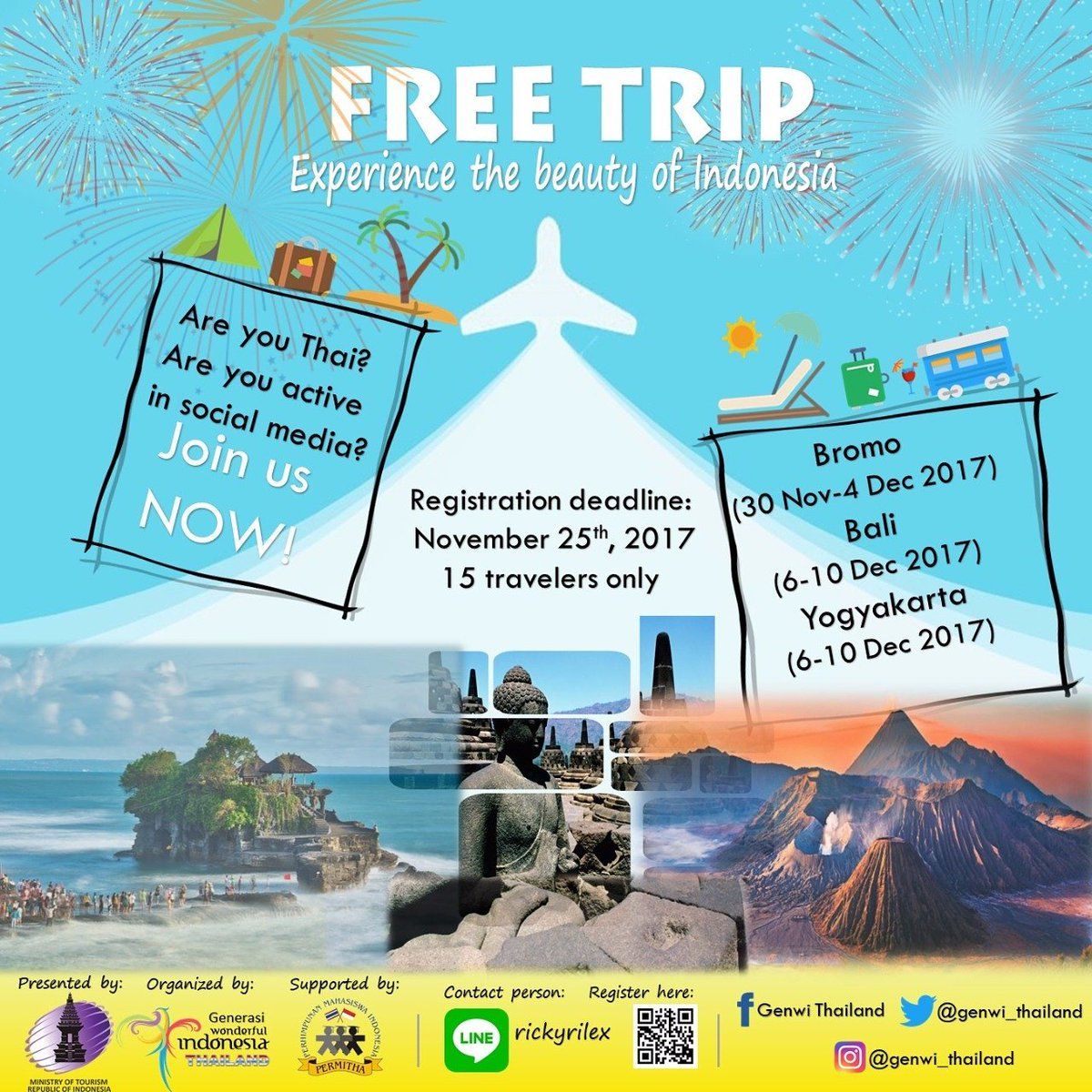 If you are thai.. please check this out.. Registration date: 22-25 November 2017 For more info, please contact: LINE ID: rickyrilex  #WonderfulIndonesia #มหัศจรรย์อินโดนีเซีย #อินโดนีเซีย<br>http://pic.twitter.com/pN6BYGy31h