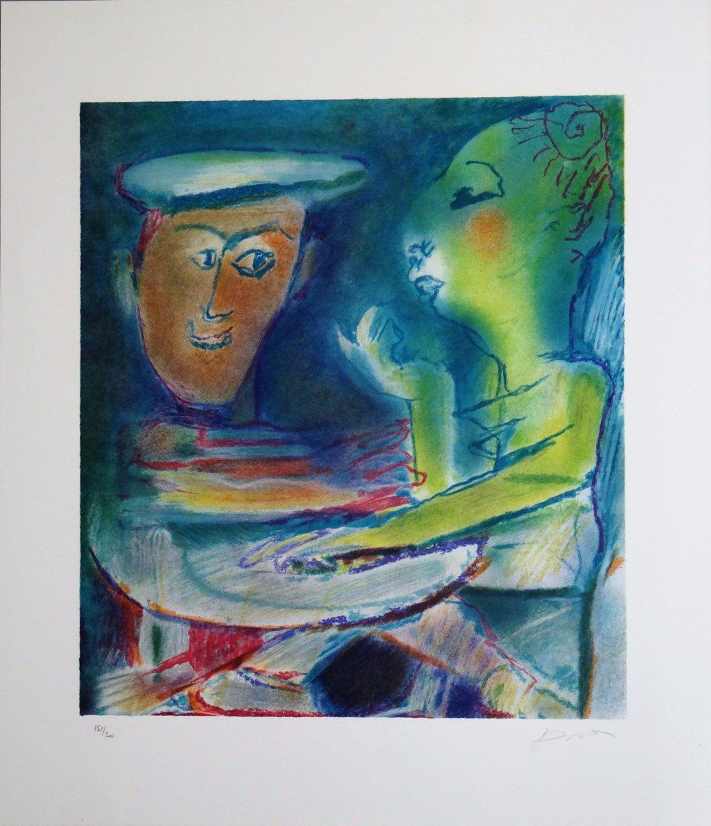 Julio #Pomar original lithograph #giftideas  #Romantic  http:// etsy.me/2zwRwuY  &nbsp;   @flyrts  #WomenInMotion  #atsocialmedia #bestofetsy #art #homedecor #TintegrityT #etsyspecialt #A4team<br>http://pic.twitter.com/EMOboAikph