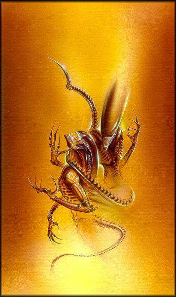 This is one of several pieces of artwork that Dimitrios Patelis provided for the covers of the earlier #Alien and #Predator  novels. This particular piece was used for Aliens: Genocide. #Aliens  #AliensGenocide #Xenomorph<br>http://pic.twitter.com/BiaoyX8XXQ