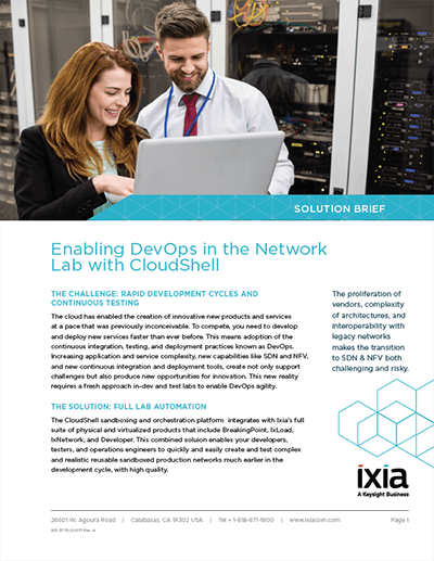 Lab-as-a-Service, Enabling #DevOps in the Network Lab with #CloudShell  https:// hubs.ly/H09dQwM0  &nbsp;   #Ixiacom <br>http://pic.twitter.com/RdBWRD2pLk