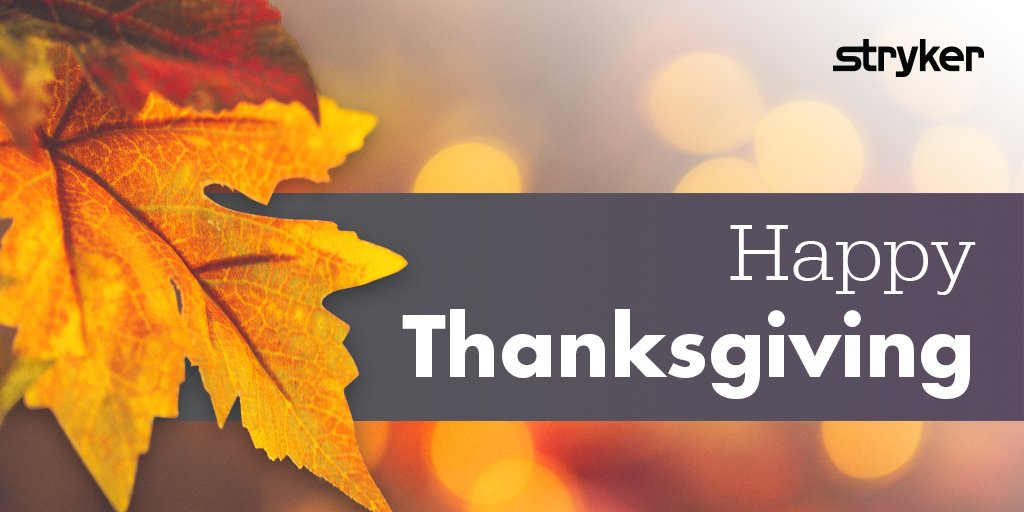 Wishing everyone a Happy Thanksgiving from Stryker's Foot &amp; Ankle team! #Stryker #Foot&amp;Ankle #HappyThanksgiving<br>http://pic.twitter.com/juYfwMg9kg