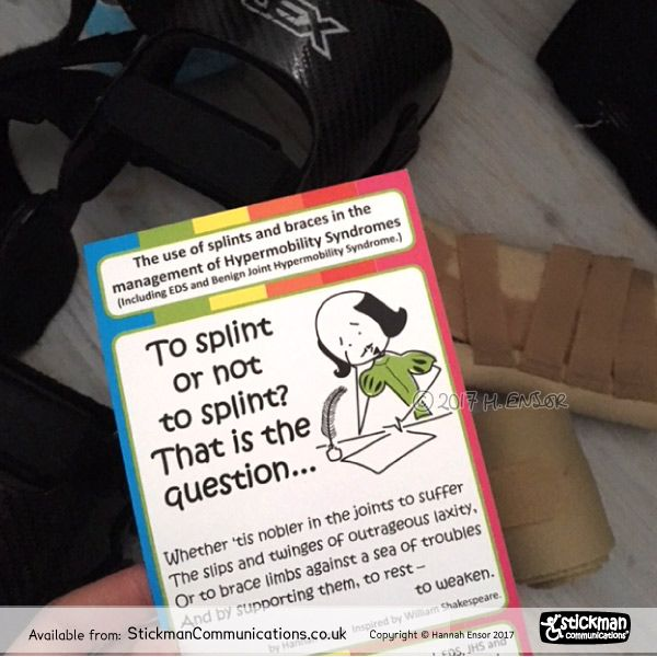 Braces for #hypermobility can reduce injury. Over-use can help pain short term, but long term = muscle wastage, more instability, more pain. So use supports wisely - make sure you don&#39;t lose muscle but do minimise injury! #EDS #HSD #Marfan  leaflet from  https:// buff.ly/2mU6jdm  &nbsp;  <br>http://pic.twitter.com/8aSfn9JJYG
