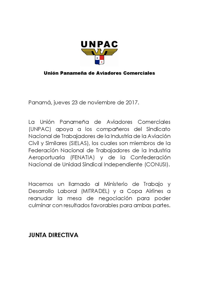 UNPAC PANAMÁ on Twitter: \