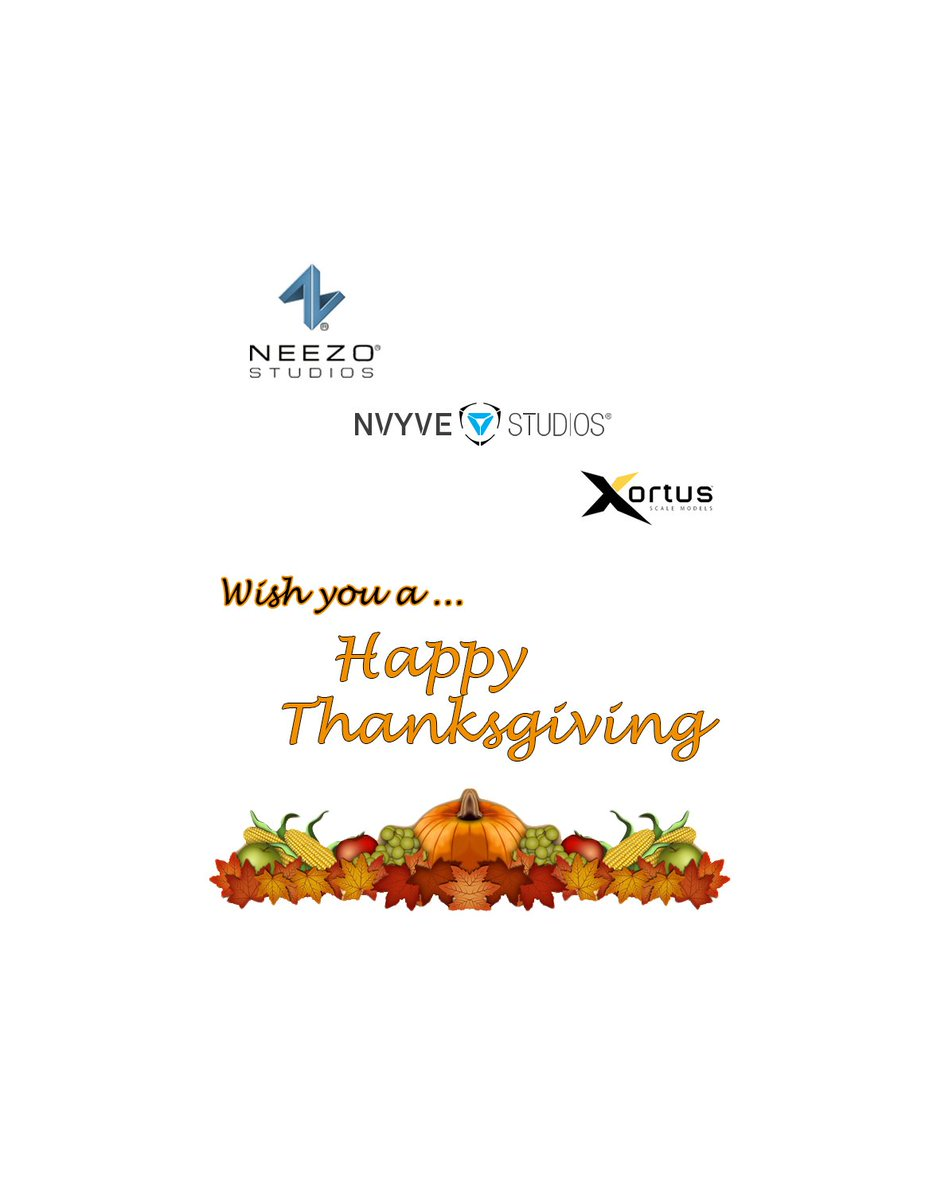 Happy Thanksgiving to all our fans &amp; clients in the USA from all our companies @neezostudios @xortus @nvyvestudios . We are very thankful for your continued support! #neezostudios #animations #propertybrothers #virtualreality #augmentedreality #pamelagame #xortus #scalemodel<br>http://pic.twitter.com/rJI64QvOvC