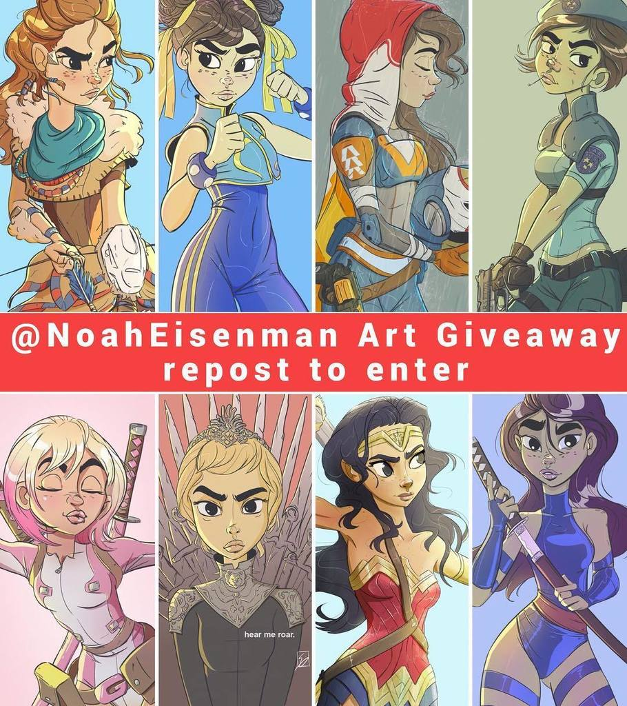 Today's the last day to win a bunch of art prints and anything in my store. Just repost to enter! (Black Friday sale tomorrow). Christmas shopping done! #artgiveaway #giveaway #art #blackfriday #sale #repost #regram #fanart #videogameart #comicart #disney #marvel #gameofthro…<br>http://pic.twitter.com/c700z2WKYU