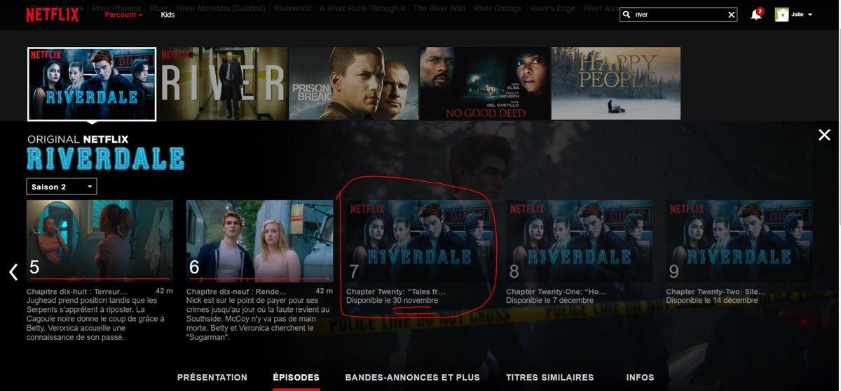 Je me suis posé oklm dans mon lit pour regarder Riverdale ET qu'est ce que je vois ?  #Riverdale @NetflixFR pic.twitter.com/RCdWfLj6J0