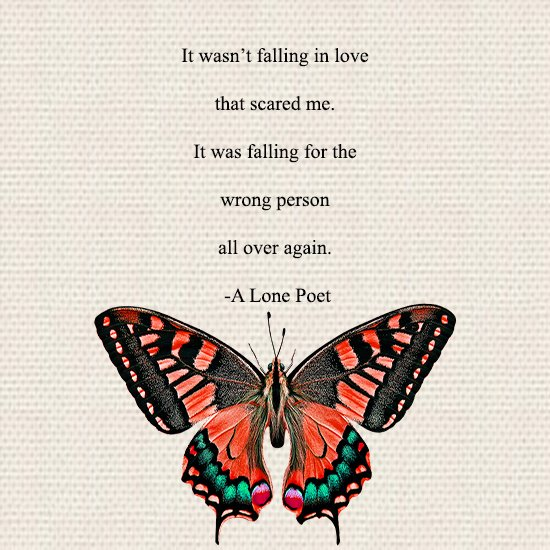 A Lone Poet On Twitter It Wasnt Falling In Love That Scared Me