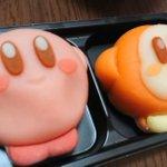 カービィの和菓子買ってきてくれた🙌✨可愛くてほっぺプニプニ押してたら…痩せてしまった…仕方ないから吸…