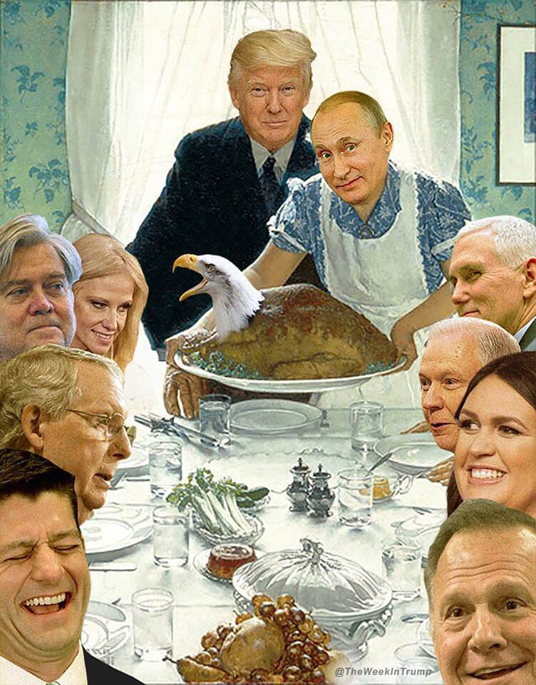 #HappyThankgiving from #TrumpRussiaCollusion #maga and the #GOP #russian #Republican party<br>http://pic.twitter.com/2HRucol6Gl