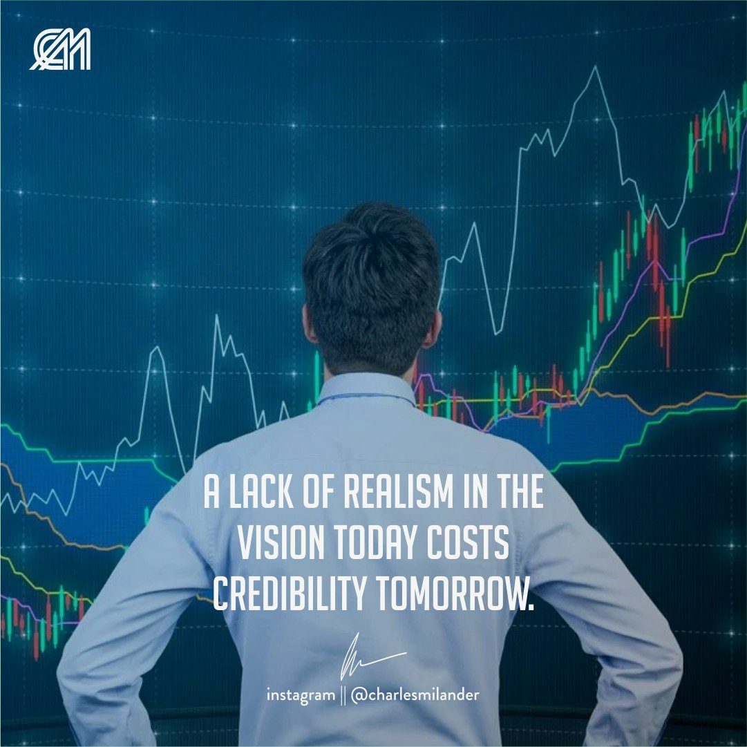 A lack of realism in the vision today costs credibility tomorrow. #charlesmilander #boss #business #quote #entrepreneurship #entrepreneur #motivation #inspiration #goals #luxury #dreams #hustle #grind #lifestyle #success #instaquote #money #newyork #passion #hardwork #happiness<br>http://pic.twitter.com/qJNzAr45Cr
