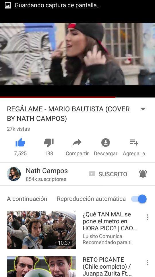 OMG ME EBCANTO TU COVER  😍😍💙 @nathcampos...