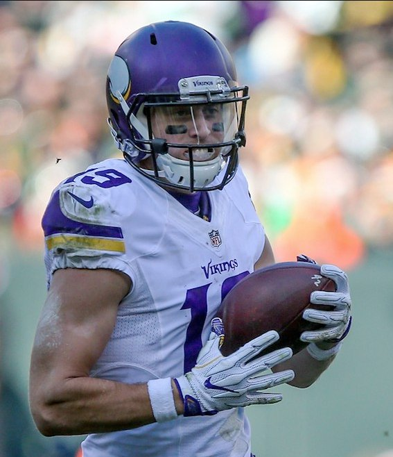 2009: Adam Thielen's only option was a $500 scholarship at Minnesota State.  2012: Undrafted  2014-16: Vikings paid him $1.5M total  2017: Gets $11M guarantee  11/23/17: Becomes 1st Viking since Randy Moss to have 1,000 yards receiving before end of November.