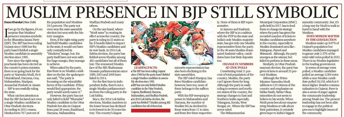 With less ~1% #Muslim #MLA across the country, @BJP4India is lagging strong muslim face in the party<br>http://pic.twitter.com/w06H3zEScN