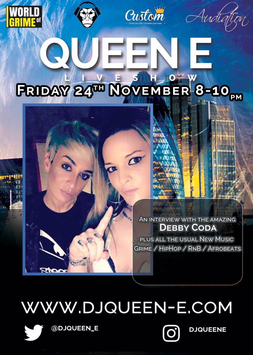 2nite 8-10pm  http://www. djqueen-e.com  &nbsp;   @DebbyCoda #Live #Radio #Podcast #Special #Interview #WomenOfMusic Make sure u lock in!! <br>http://pic.twitter.com/xcnSA0qnz9