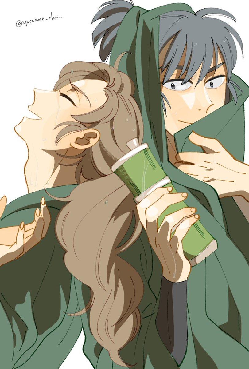 > 宜しければ留三郎と伊作のふたりの幸せなイラストをまた拝見したく思います。#odaibako お題ありがとうございました☺️
