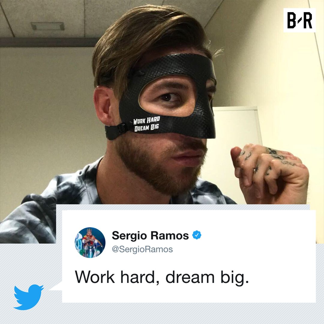 Sergio Ramos joins the mask club. ⚪ http...