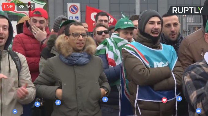 LIVE: #Amazon Italy workers demonstrate...