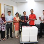 MIDF recently surprised its employees with strawberries.  This is one of the Company's ongoing employee engagement activities.  The distribution was handled by Kelab Warga Kumpulan MIDF.
